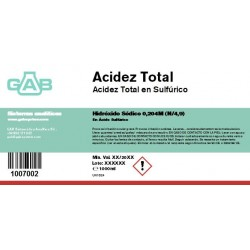Total acidez 1000 ml