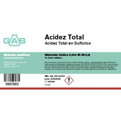Total Acidez 500 ml
